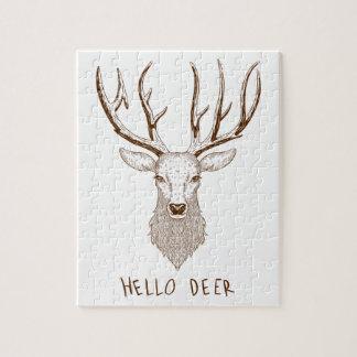 Puzzle Hello Deer