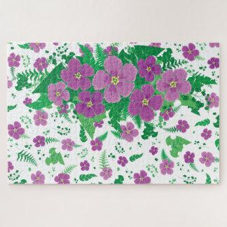 Puzzle Hibisco púrpura