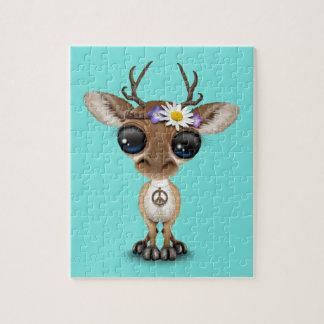 Puzzle Hippie lindo de los ciervos del bebé