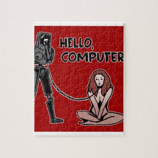 Puzzle Hola, ordenador