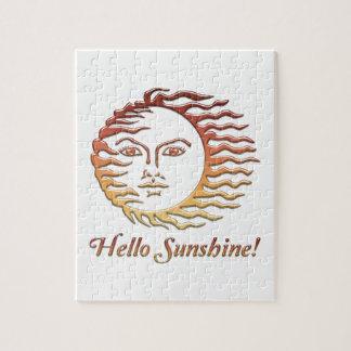 Puzzle HOLA verano de Sun de la diversión de la SOL