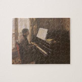 Puzzle Hombre joven que juega el piano de Gustave