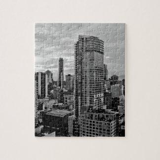 Puzzle Horizonte blanco y negro de Vancouver