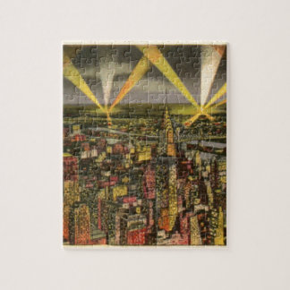 Puzzle Horizonte de New York City del vintage