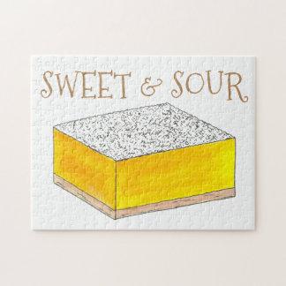 Puzzle Hornada amarilla dulce y amarga de los pasteles