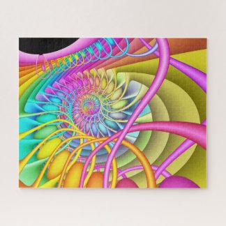 Puzzle Huevos en colores pastel espirales del fractal