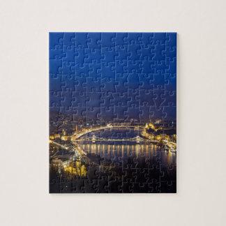 Puzzle Hungría Budapest en el panorama de la noche