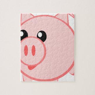 Puzzle Ilustracion de un cerdo del dibujo animado