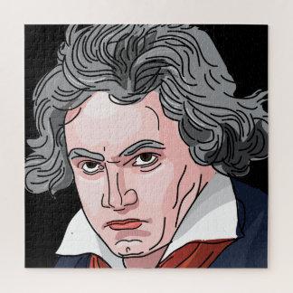 Puzzle Ilustracion del retrato de Beethoven