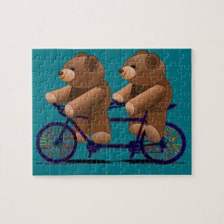 Puzzle Impresión en tándem del oso de peluche de la
