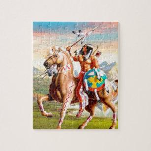 Puzzle Indios americanos Brave en caballo dd742cb8b4d