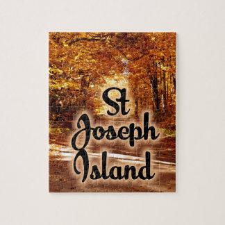 Puzzle Isla de San José con colores de la caída