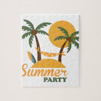Puzzle Isla tropical del día de fiesta de las vacaciones
