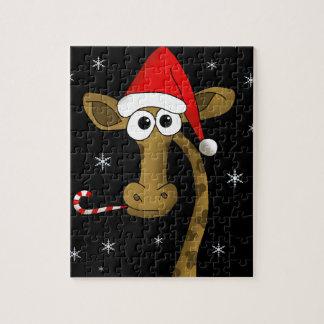 Puzzle Jirafa del navidad