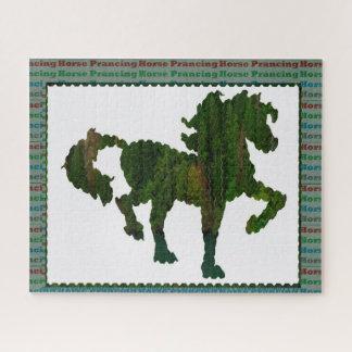 Puzzle Juegos animales prancing del polo del mascota del