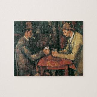 Puzzle Jugadores de tarjeta de Paul Cezanne, bella arte