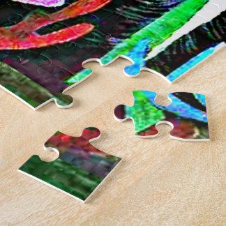 Puzzle Klee - paisaje con los pájaros amarillos