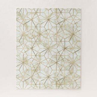 Puzzle La estrella geométrica moderna del oro y de mármol