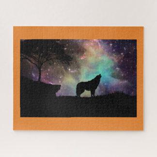 Puzzle La noche de la luna del aullido del lobo