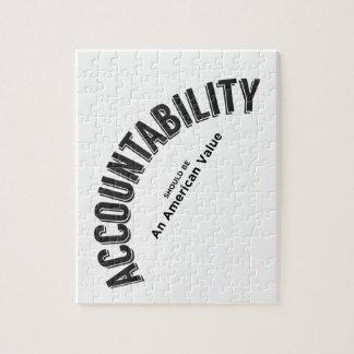 Puzzle La responsabilidad debe ser un valor americano