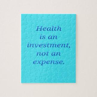 Puzzle La salud es una inversión…