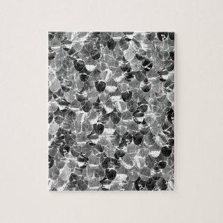 Puzzle La sirena abstracta blanco y negro escala el