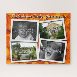 Puzzle Las memorias de la familia 4 fotos de encargo de x