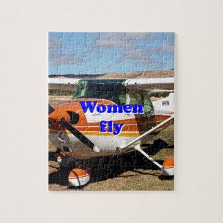 Puzzle Las mujeres vuelan: aviones de ala alta