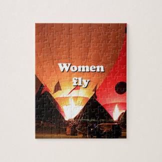 Puzzle Las mujeres vuelan: globo 2 del aire caliente