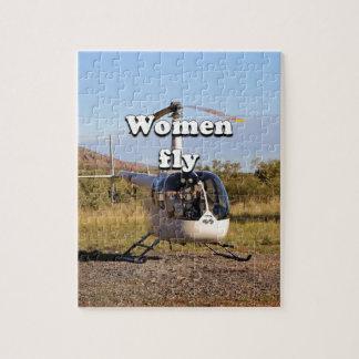 Puzzle Las mujeres vuelan: Helicóptero 2 (blancos)