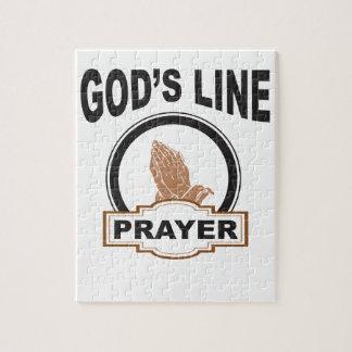 Puzzle línea rezo de dioses