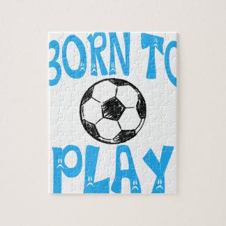 Puzzle llevado jugar a fútbol