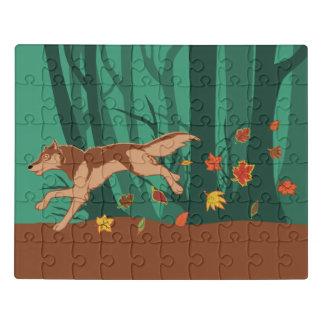 Puzzle Lobo del otoño