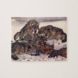 Puzzle Lobos de Winifred Austen, animales salvajes del