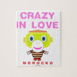 Puzzle Loco en Mono-Morocko amor-Lindo