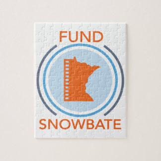 Puzzle logotipo del círculo del fundsnowbate