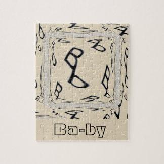 Puzzle Logotipo del texto del bebé del Bb