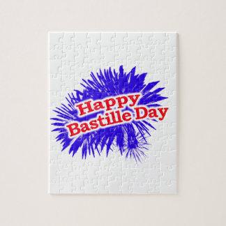 Puzzle Logotipo feliz del gráfico del día de Bastille