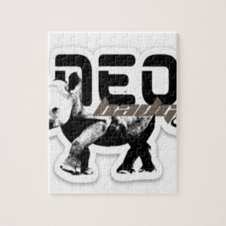 Puzzle logotipo original neo
