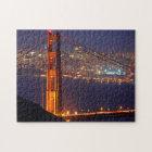 Puzzle Los E.E.U.U., California. Puente Golden Gate en la