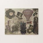 Puzzle Los engranajes industriales victorianos de vapor v