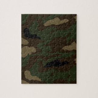 Puzzle los militares camuflan el modelo