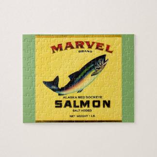 Puzzle los salmones de la maravilla de los años 30 pueden
