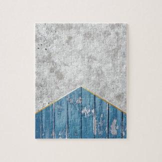 Puzzle Madera azul #347 de la flecha concreta