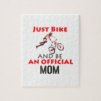 Puzzle Mamá de ciclo divertida