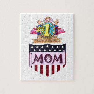 Puzzle Mamá del número uno
