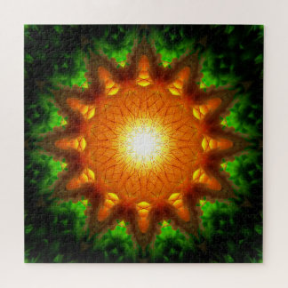 Puzzle Mandala anaranjada de la base el | de la energía