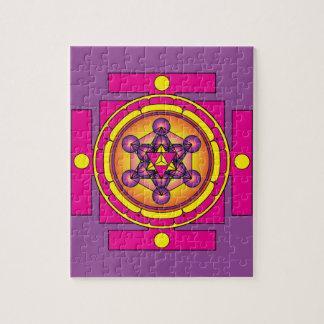 Puzzle Mandala de Merkaba del cubo de Metatron