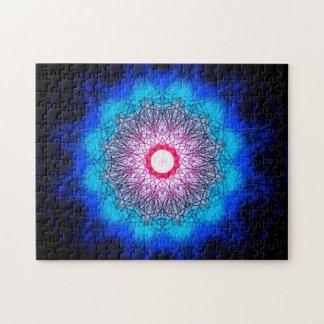 Puzzle Mandala del copo de nieve del fractal