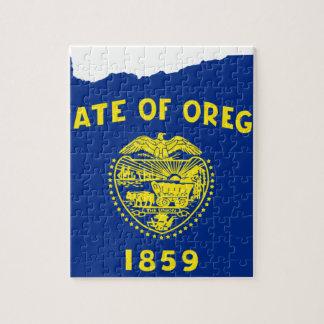 Puzzle Mapa de la bandera de Oregon